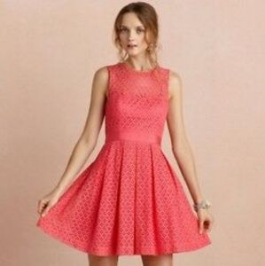 Anthro BHLDN Hitherto Pink Lace Theorem Dress